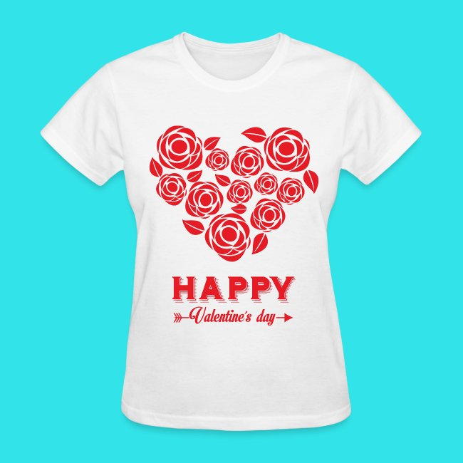 Barrier Style And Design Roses Heart Happy Valentines Day Womens