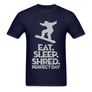 Snowboarder Shred - Men's T-Shirt
