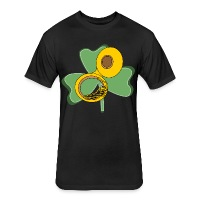 Shamrock Tuba - Fitted Cotton/Poly T-Shirt by Next Level