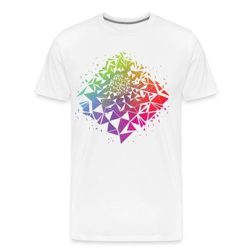 Geometric Rainbow - Men's Premium T-Shirt