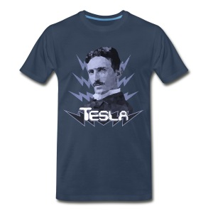 Tesla - Bolt (blue) - Men's Premium T-Shirt