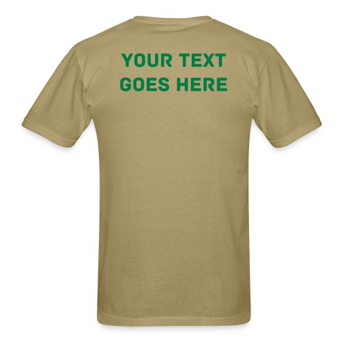Camping Shirt You Can Put Text On Back - Men's T-Shirt