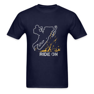Snowmobile Ride On - Men's T-Shirt