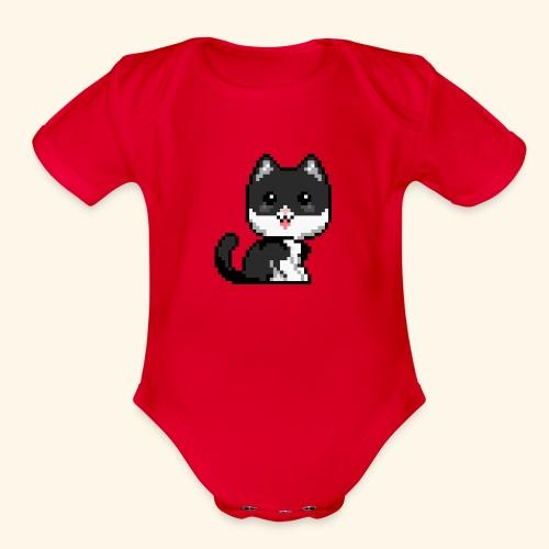 Kattarshians - Guðni - Organic Short Sleeve Baby Bodysuit