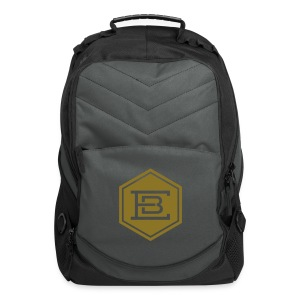 Computer Backpack with Epicure logo on front in Gold - Computer Backpack