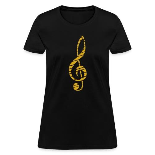 Music Lover Women's T-Shirt Golden Music Key Symbol - Women's T-Shirt