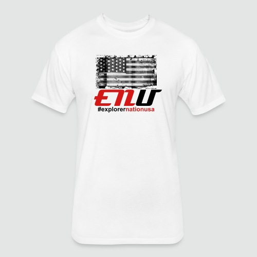 ENU - Americana - Fitted Cotton/Poly T-Shirt by Next Level