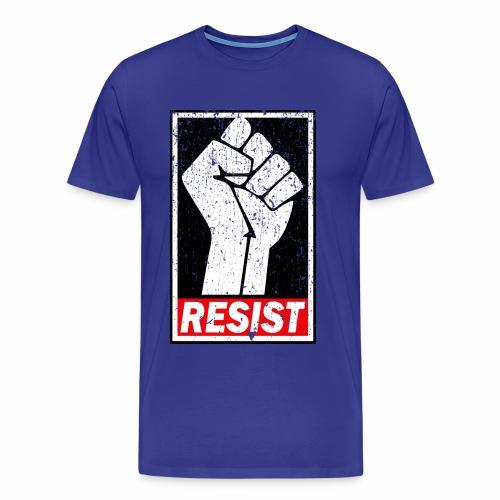 RESIST DISTRESSED SYLE - Men's Premium T-Shirt