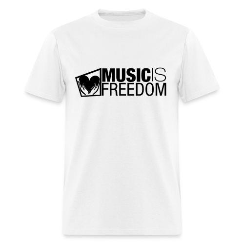 Music Is Freedom T-Shirt - Mens White - Men's T-Shirt