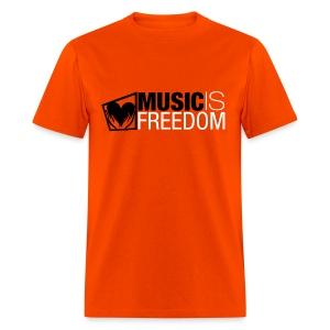 Music Is Freedom T-Shirt - Mens Orange - Men's T-Shirt