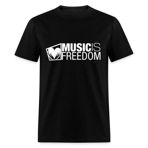 Music Is Freedom T-Shirt - Mens Black - Men's T-Shirt