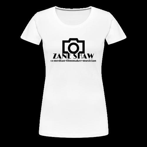 Zane Shaw [black logo] - Women's Premium T-Shirt