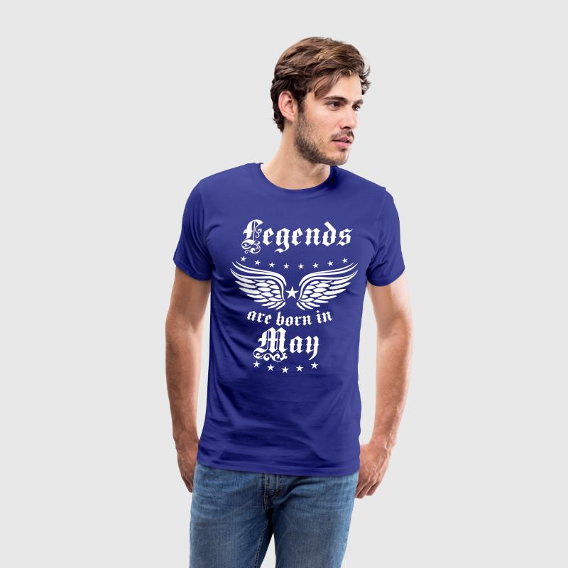 Legends are born in May birthday Vintage Stars sex - Men's Premium T-Shirt
