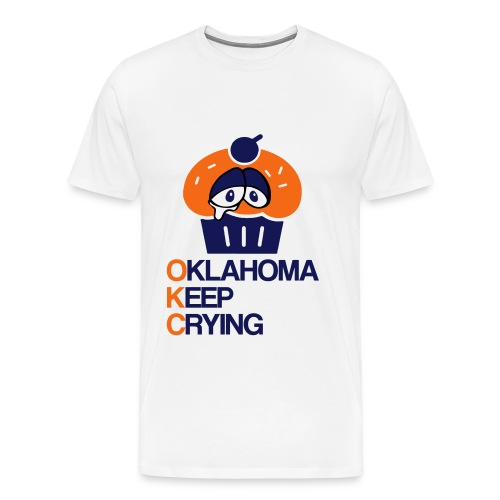 OKC Cupcake Crying - Men's Premium T-Shirt