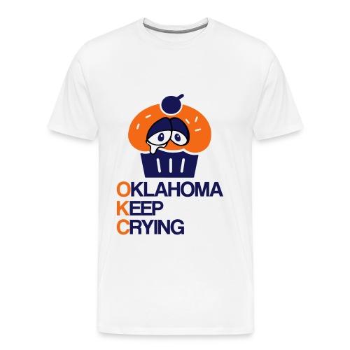 OKC Cupcake Crying - Men's Premium T-Shirt