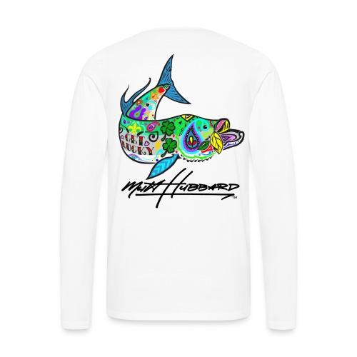 Men's Premium Lucky tarpon Long Sleeve Shirt - Men's Premium Long Sleeve T-Shirt