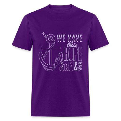 2017 t-shirt, Lavender font - Men's T-Shirt