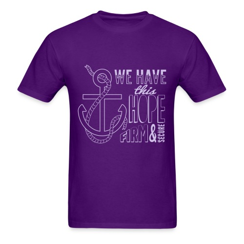 2017 t-shirt, Lavender font - Men's T-Shirt