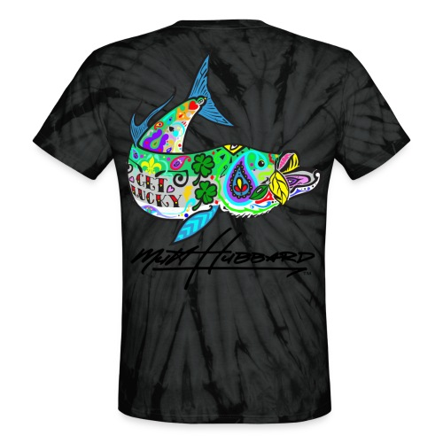 Unisex Tie Dye Lucky Tarpon T-Shirt - Unisex Tie Dye T-Shirt