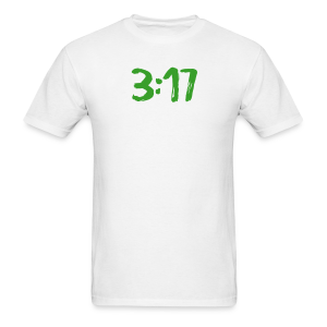 317 green & white  - Men's T-Shirt