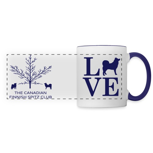 Finnish Spitz Love Mug (Blue) - Panoramic Mug
