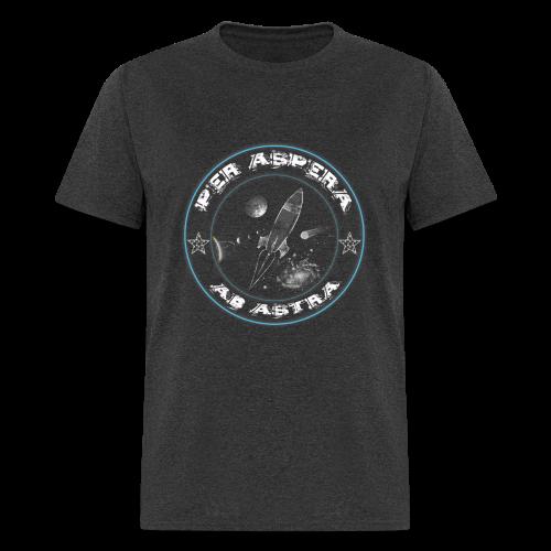 Per aspera -blue white- men - Men's T-Shirt