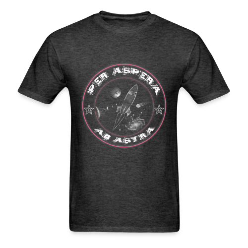 Per aspera -pink white –men - Men's T-Shirt