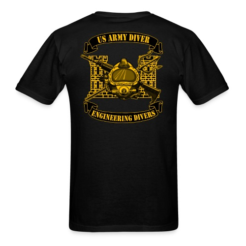 US Army Diver Back Print - Men's T-Shirt