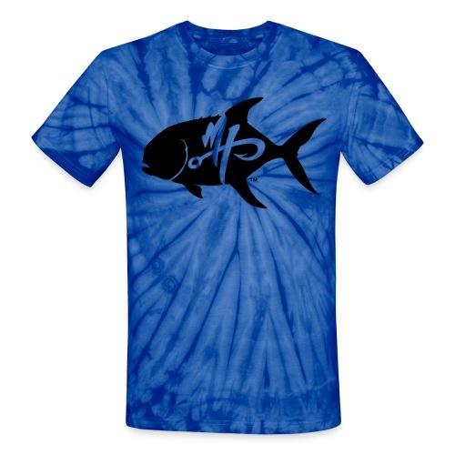 Unisex Pompano Logo Tye Dye T-Shirt - Unisex Tie Dye T-Shirt
