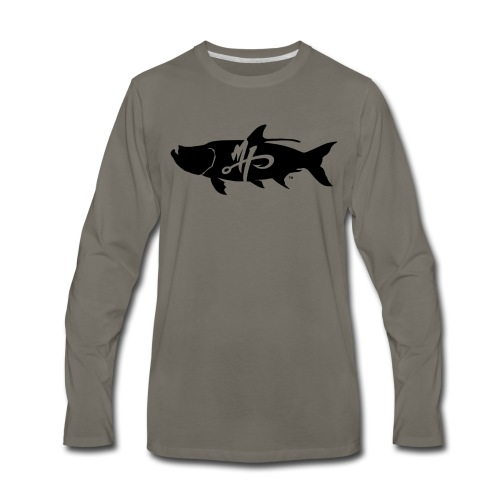 Men's Premium Tarpon Logo Long Sleeve Shirt - Men's Premium Long Sleeve T-Shirt