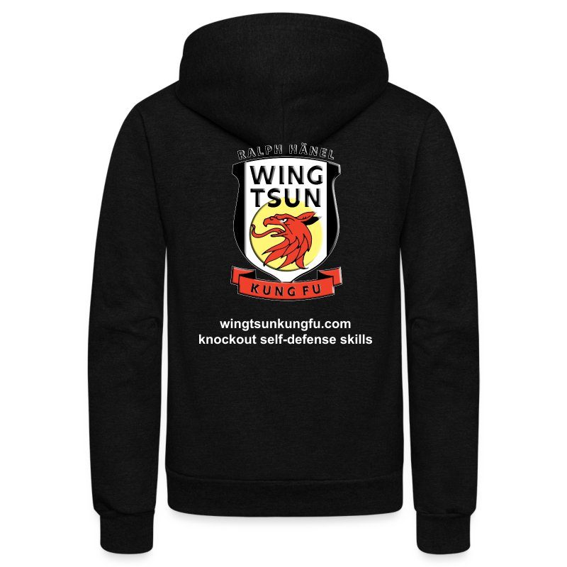 Wing Tsun Kung Fu instructor (unisex zip hoodie) - Unisex Fleece Zip Hoodie by American Apparel