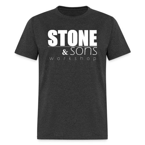 Stone and Sons Full Logo (white) - Men's T-Shirt