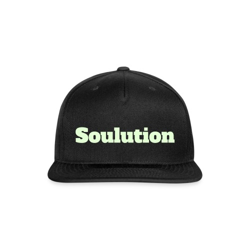Unisex Glow in the Dark Soulution Snap Back - Snap-back Baseball Cap
