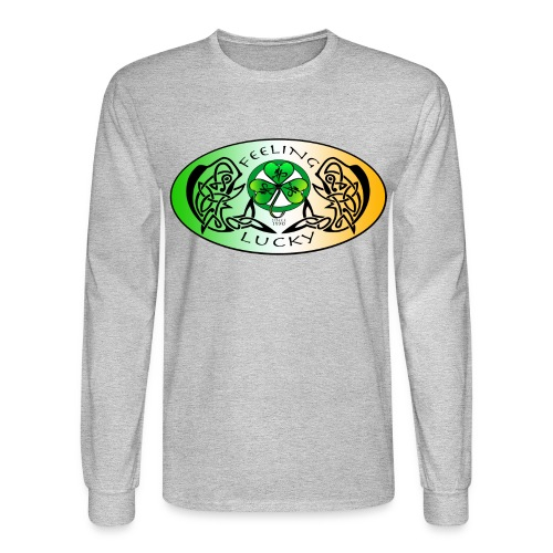 Men's Standard Feeling Lucky Long Sleeve Shirt - Men's Long Sleeve T-Shirt