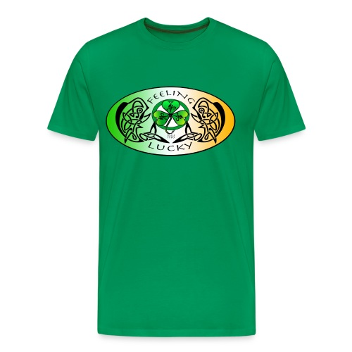 Men's Premium Feeling Lucky T-Shirt - Men's Premium T-Shirt