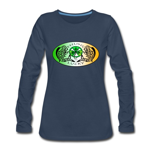 Women's Premium Feeling Lucky Long Sleeve Shirt - Women's Premium Long Sleeve T-Shirt