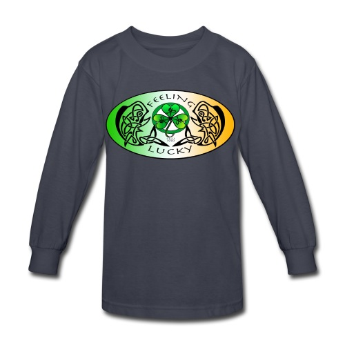 Kid's Standard Feeling Lucky Long Sleeve Shirt - Kids' Long Sleeve T-Shirt