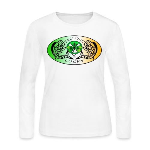 Women's Feeling Lucky Long Sleeve Jersey Shirt - Women's Long Sleeve Jersey T-Shirt