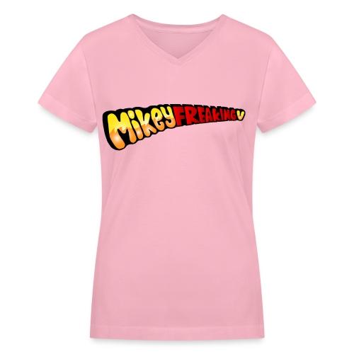 MikeyFREAKINGv V-Neck Tee - cobalt - Women's V-Neck T-Shirt