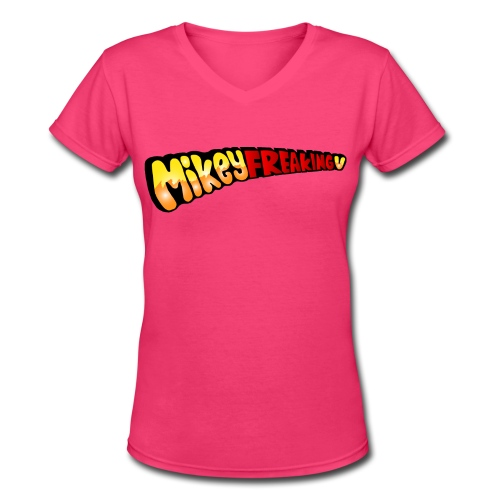 MikeyFREAKINGv V-Neck Tee - azalea pink - Women's V-Neck T-Shirt