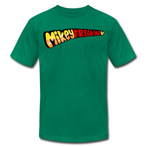 MikeyFREAKINGv American Aparrel Tee - green - Men's Fine Jersey T-Shirt