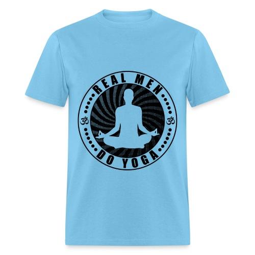 Real Men Do Yoga Design - Men's T-Shirt