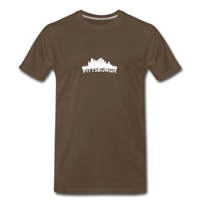 Arc Skyline Of Pittsburgh PA - Men's Premium T-Shirt