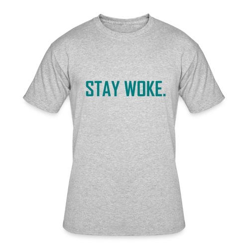 Stay woke Gray T-shirt - Men's 50/50 T-Shirt