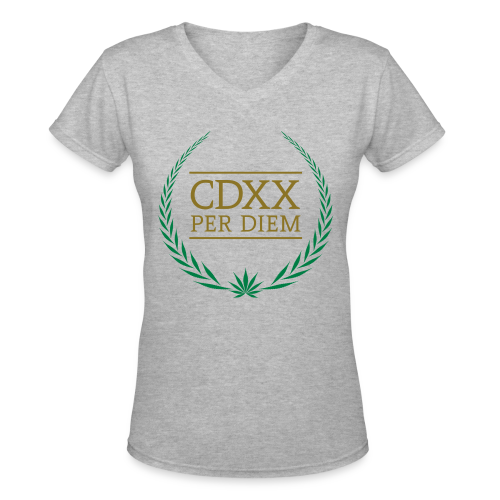 CDXX Per Diem Fitted - Women's V-Neck T-Shirt