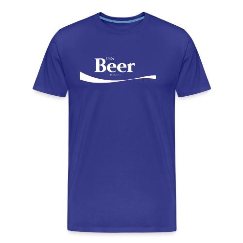Enjoy Beer Men's Premium T-Shirt - Men's Premium T-Shirt