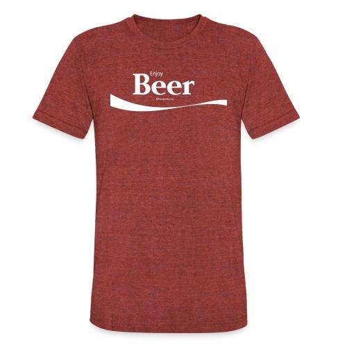 Enjoy Beer Unisex Tri-Blend T-Shirt - Unisex Tri-Blend T-Shirt