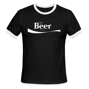 Enjoy Beer Men's Ringer T-Shirt - Men's Ringer T-Shirt