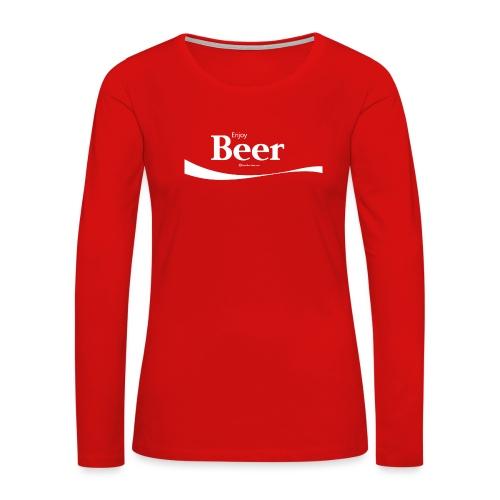 Enjoy Beer Women's Premium Long Sleeve T-Shirt - Women's Premium Long Sleeve T-Shirt
