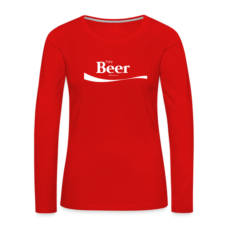 Enjoy Beer Women's Premium Long Sleeve T-Shirt - Women's Premium Long Sleeve T-Shirt